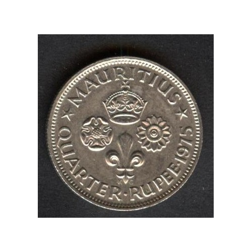 MAURITIUS 1/4 Rupee 1975