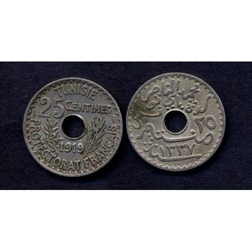 TUNISIA 25 Centimes 1919