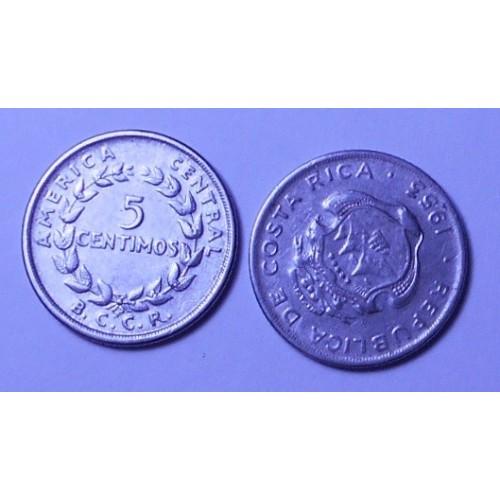 COSTA RICA 5 Centimos 1953