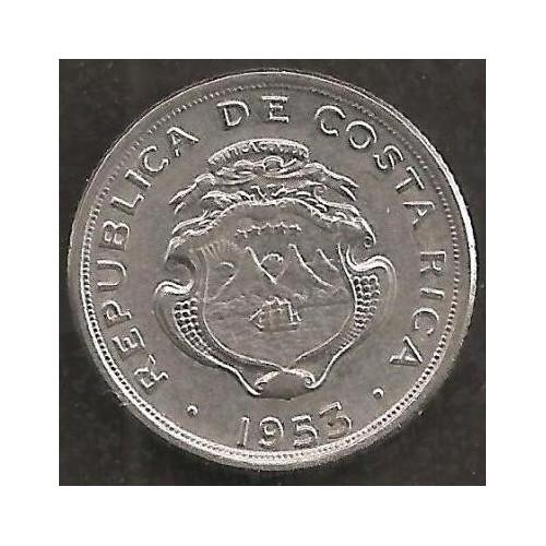 COSTA RICA 10 Centimos 1953