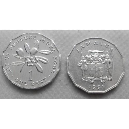 JAMAICA 1 Cent 1991 FAO