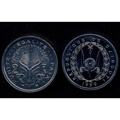 DJIBOUTI 2 Francs 1999