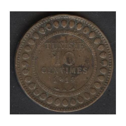 TUNISIA 10 Centimes 1914