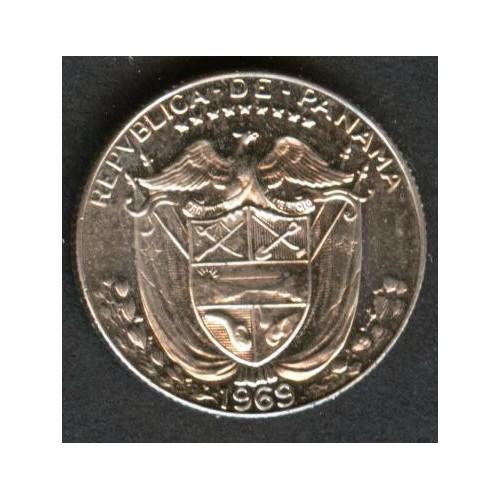 PANAMA 1/10 Balboa 1969 Proof