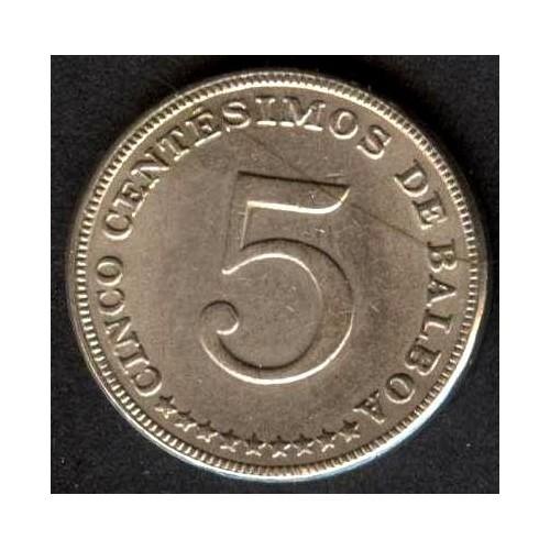 PANAMA 5 Centesimos 1968 Proof