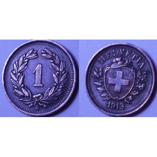 SWITZERLAND 1 Rappen 1913