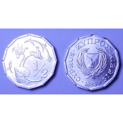 CYPRUS 1/2 Cent 1983