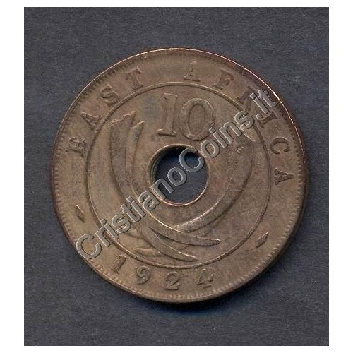 EAST AFRICA 10 Cents 1924...