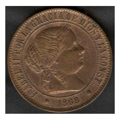 SPAIN 5 Centimos 1868 OM...