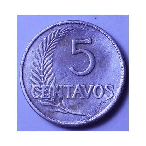 PERU 5 Centavos 1923