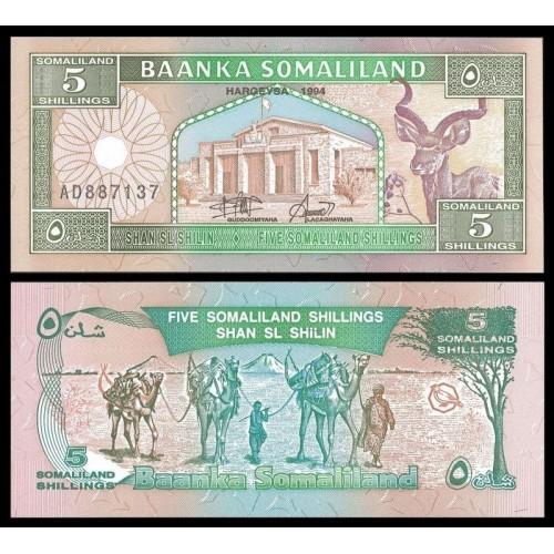 SOMALILAND 5 Shillings 1994