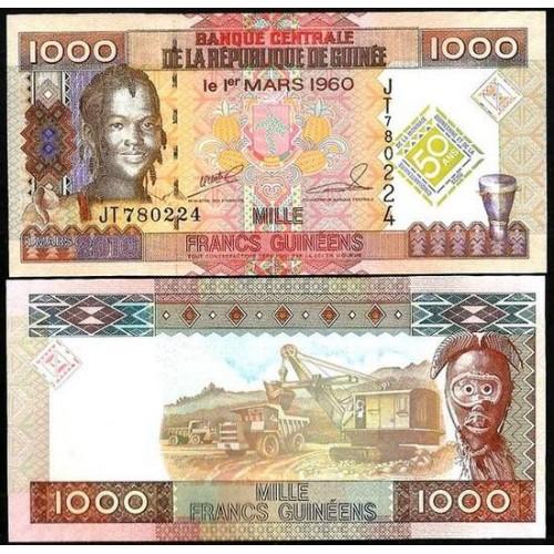 GUINEA 1000 Francs 2010...
