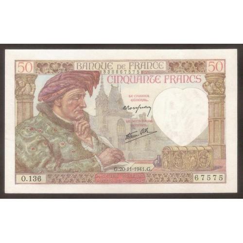FRANCE 50 Francs 20.11.1941