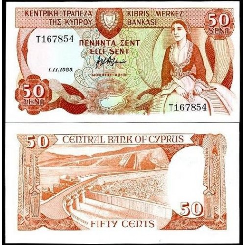 CYPRUS 50 Cent 1989