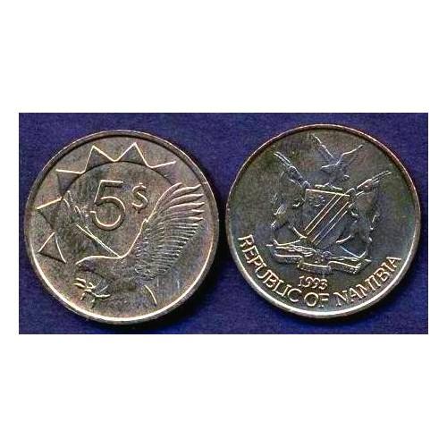 NAMIBIA 5 Dollars 1993
