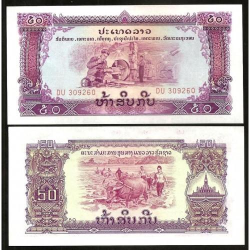 LAOS 50 Kip 1968
