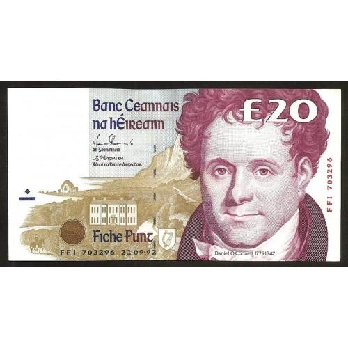 IRELAND 20 Pounds 1992