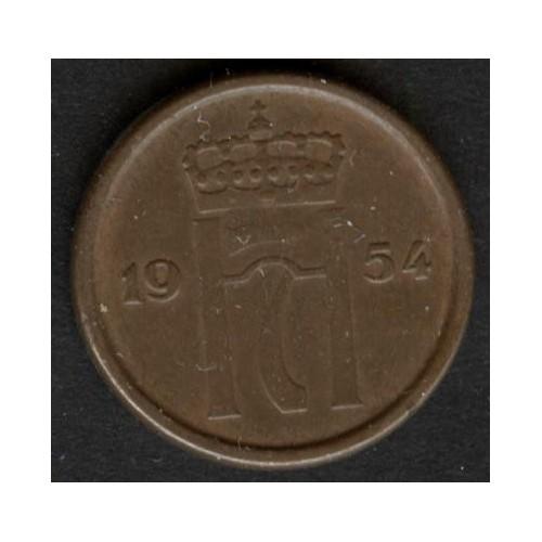 NORWAY 1 Ore 1954