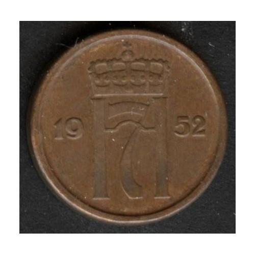 NORWAY 1 Ore 1952 KM 398