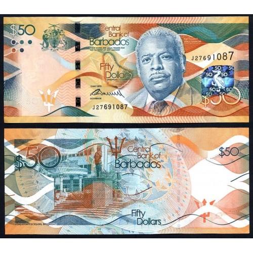 BARBADOS 50 Dollars 2013