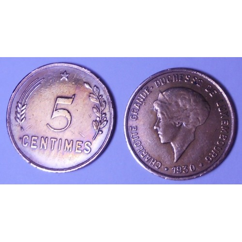 LUXEMBOURG 5 Centimes 1930