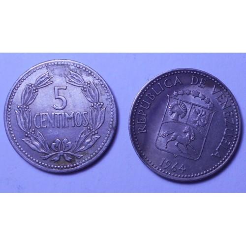 VENEZUELA 5 Centimos 1964