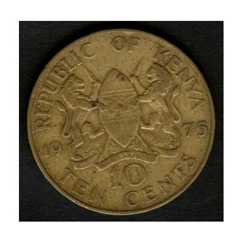 KENYA 10 Cents 1975