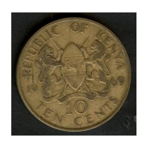KENYA 10 Cents 1969