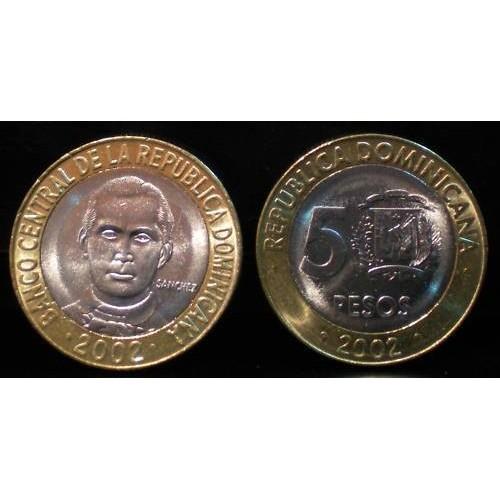 DOMINICAN REPUBLIC 5 Pesos...
