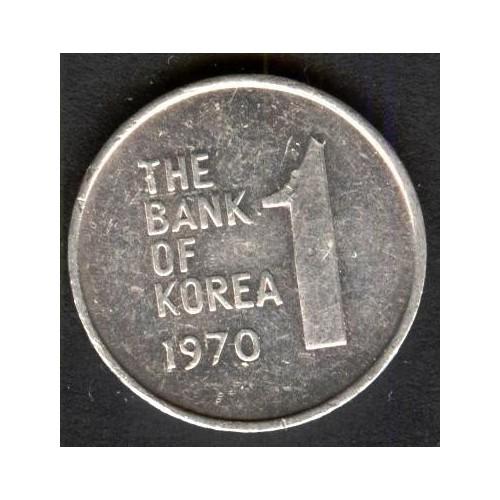 SOUTH KOREA 1 Won 1970