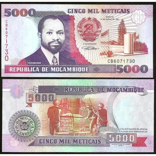 MOZAMBIQUE 5000 Meticais 1991