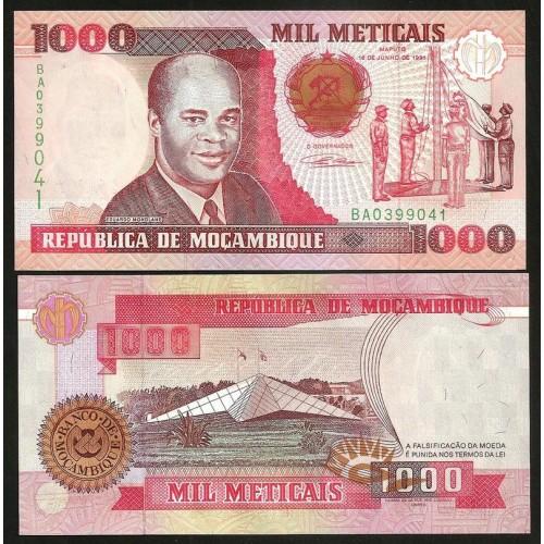 MOZAMBIQUE 1000 Meticais 1991