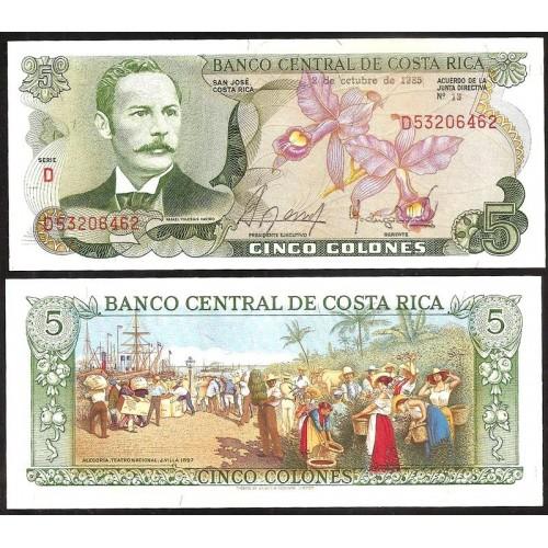 COSTA RICA 5 Colones...