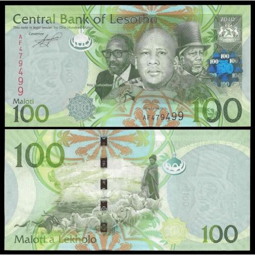 LESOTHO 100 Maloti 2010