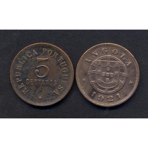 ANGOLA 5 Centavos 1921