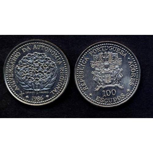 AZORES 100 Escudos 1986...