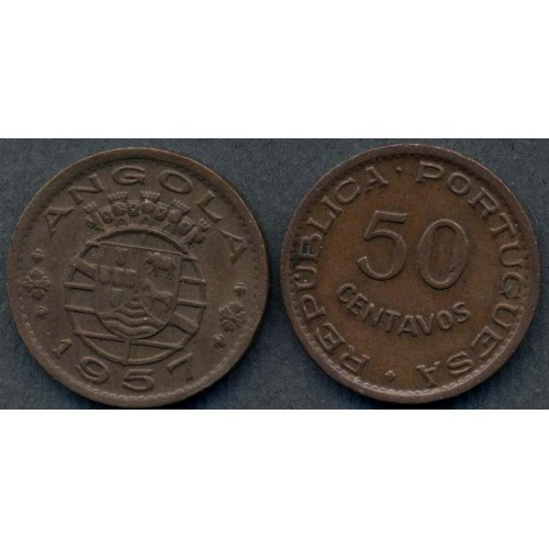 ANGOLA 50 Centavos 1957