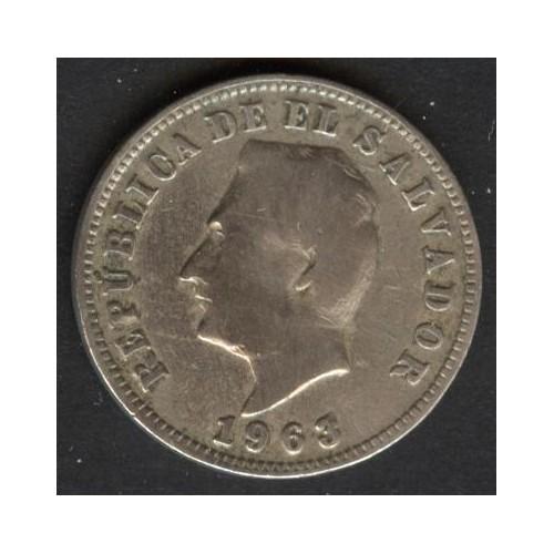 EL SALVADOR 5 Centavos 1963