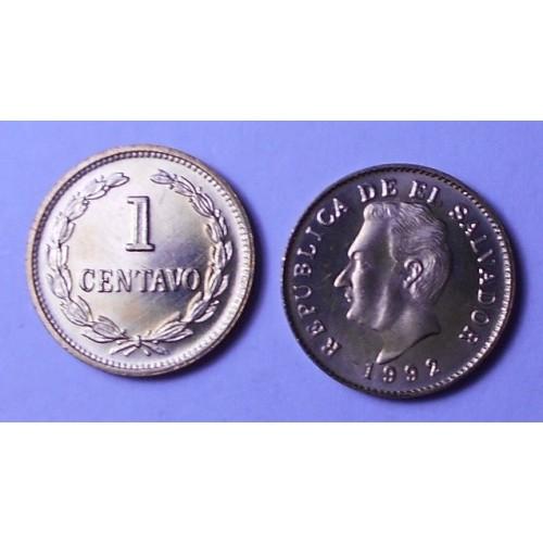 EL SALVADOR 1 Centavo 1992