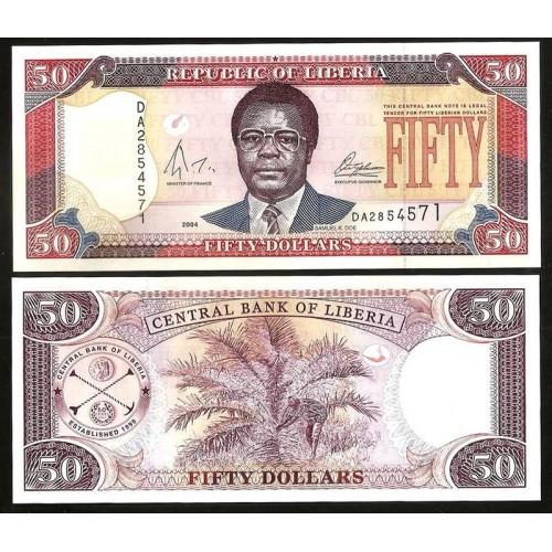 LIBERIA 50 Dollars 2004