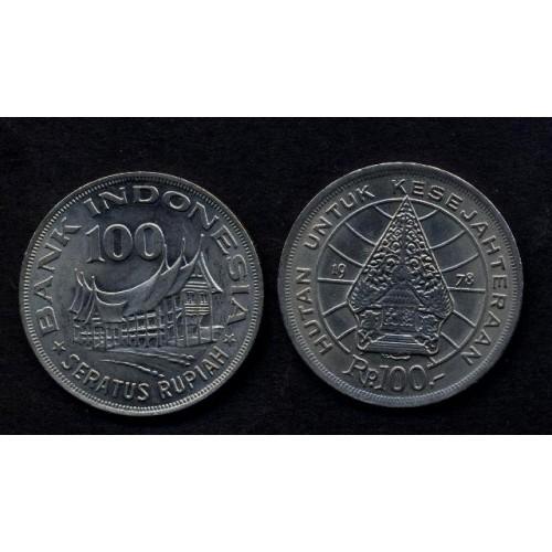 INDONESIA 100 Rupiah 1978...