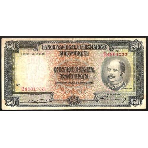 MOZAMBIQUE 50 Escudos 1958