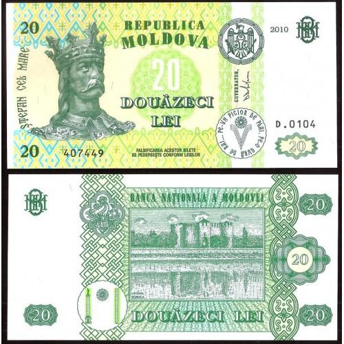 MOLDOVA 20 Lei 2010