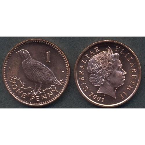 GIBRALTAR 1 Penny 2001 AA