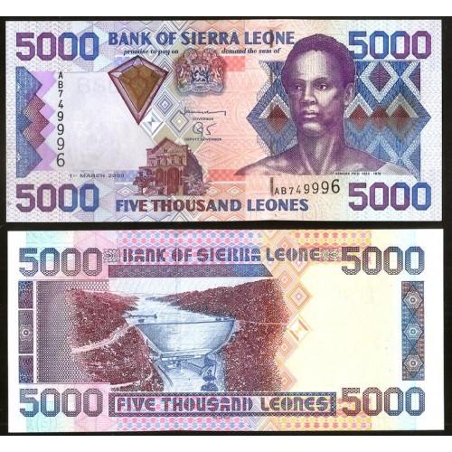 SIERRA LEONE 5000 Leones 2003