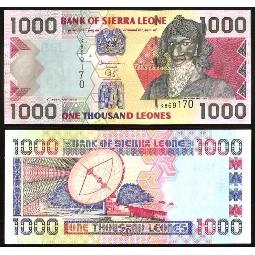 SIERRA LEONE 1000 Leones 2002