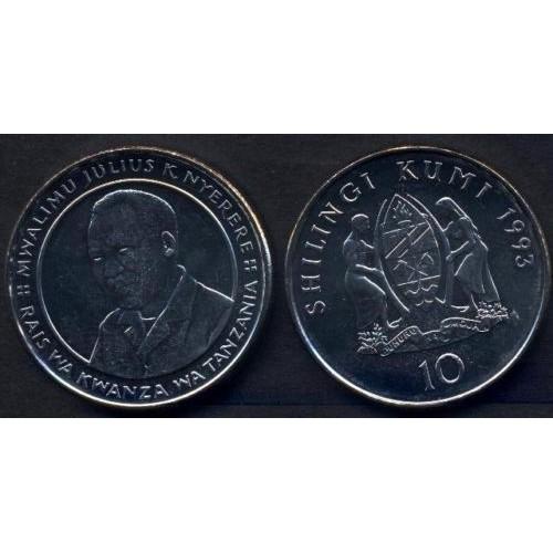 TANZANIA 10 Shilingi 1993...