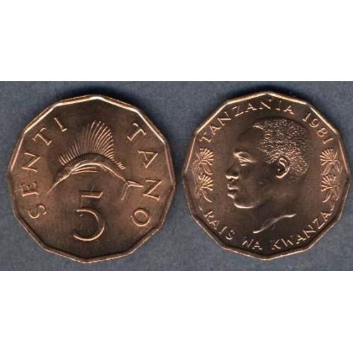 TANZANIA 5 Senti 1981