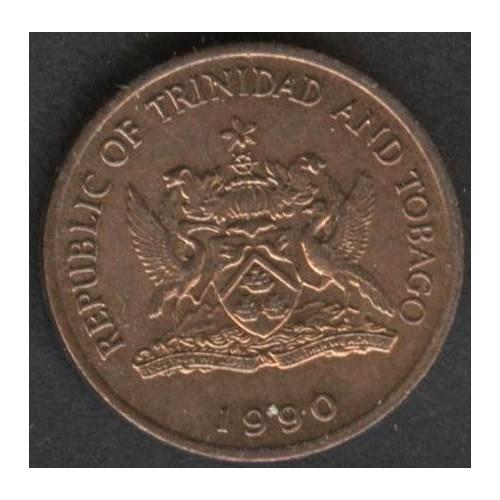 TRINIDAD & TOBAGO 1 Cent 1990