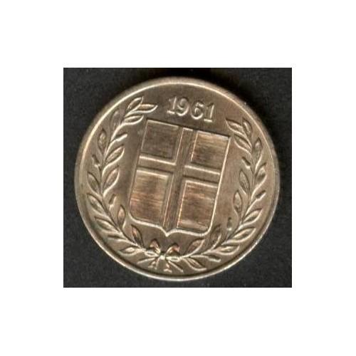 ICELAND 10 Aurar 1961